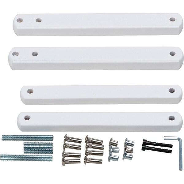 Geuther Zusatzklemmen für Treppenschutzgitter Buche massiv weiß lackiert