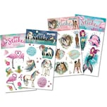 TapirElla Glitter-Stickerset Tiere 4 Bogen