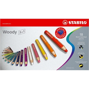 STABILO Buntstift woody 3 in 1 18 Farben