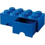 Lego Schubladenbox Storage Brick 8er Stein blau