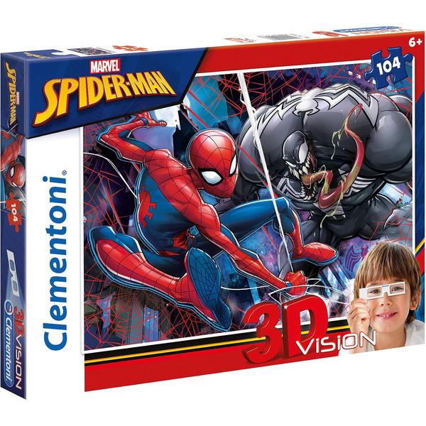 Clementoni 3D Vision Puzzle 104 Teile Spiderman