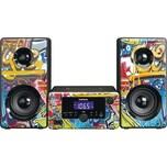 Lenco Micro-Hifi-Anlage MC-020 Tags Grafitti Design