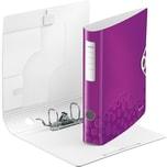 LEITZ Aktenordner Polyfoam 1107 Active WOW violett A4 180° Breite 6 cm