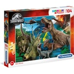 Clementoni Puzzle 104 Teile Supercolor - Jurassic World