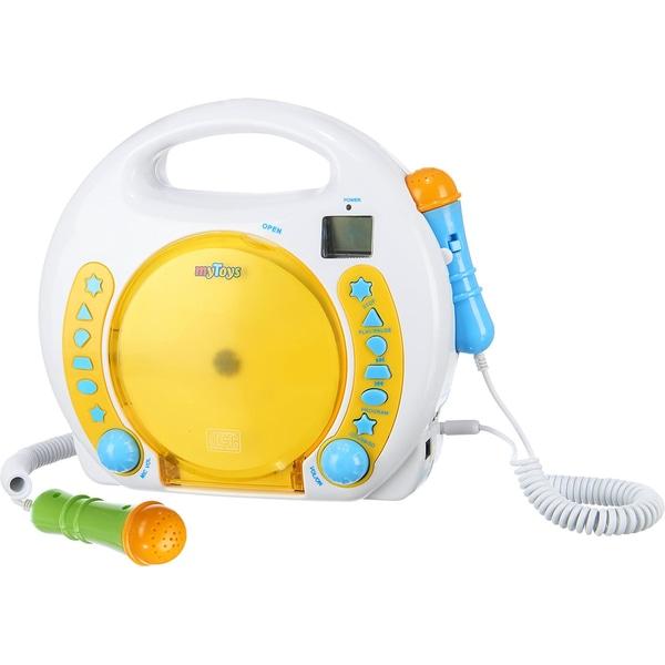 myToys myToys Kinder CD-Player mit Hörbuchfunktion USB-Anschluss eingebautem Akku Netzteil
