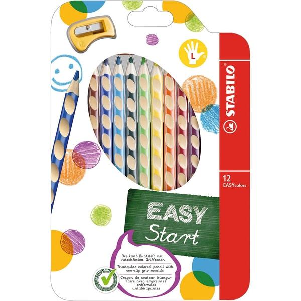 STABILO Buntstift EASYcolors L inkl. Spitzer 12 Farben