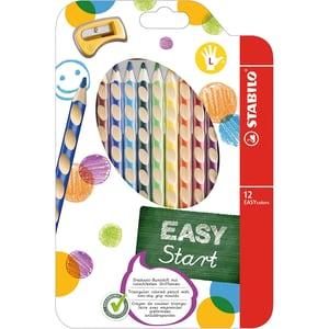 STABILO Buntstifte EASYcolors Linkshänder inkl. Spitzer 12 Farben