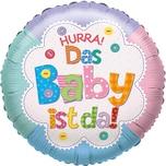 Karaloon Folienballon Hurra das Baby ist da!
