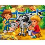 Larsen Rahmen-Puzzle 18 Teile 36x28 cm Bauernhof-Kinder Mit Kuh