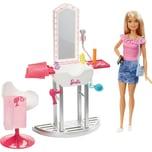 Mattel Barbie Deluxe-Set Möbel Salon Puppe blond