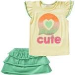 Lemon Beret Baby Set T-Shirt mit Pailletten Rock