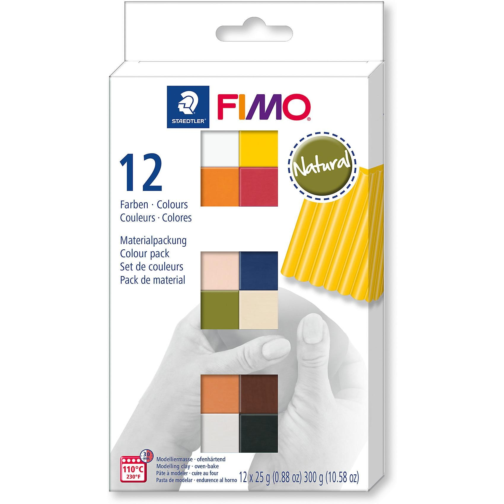 Staedtler Fimo soft Materialpackung Natural Colours 12 x 25 g