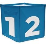 Achoka® Aufbewahrungsbox Würfel Blau