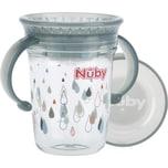"""Nuby 360° Trinklerntasse mit Griffen """"WONDER CUP"""" aus Tritan von Eastman 240 ml grau"""