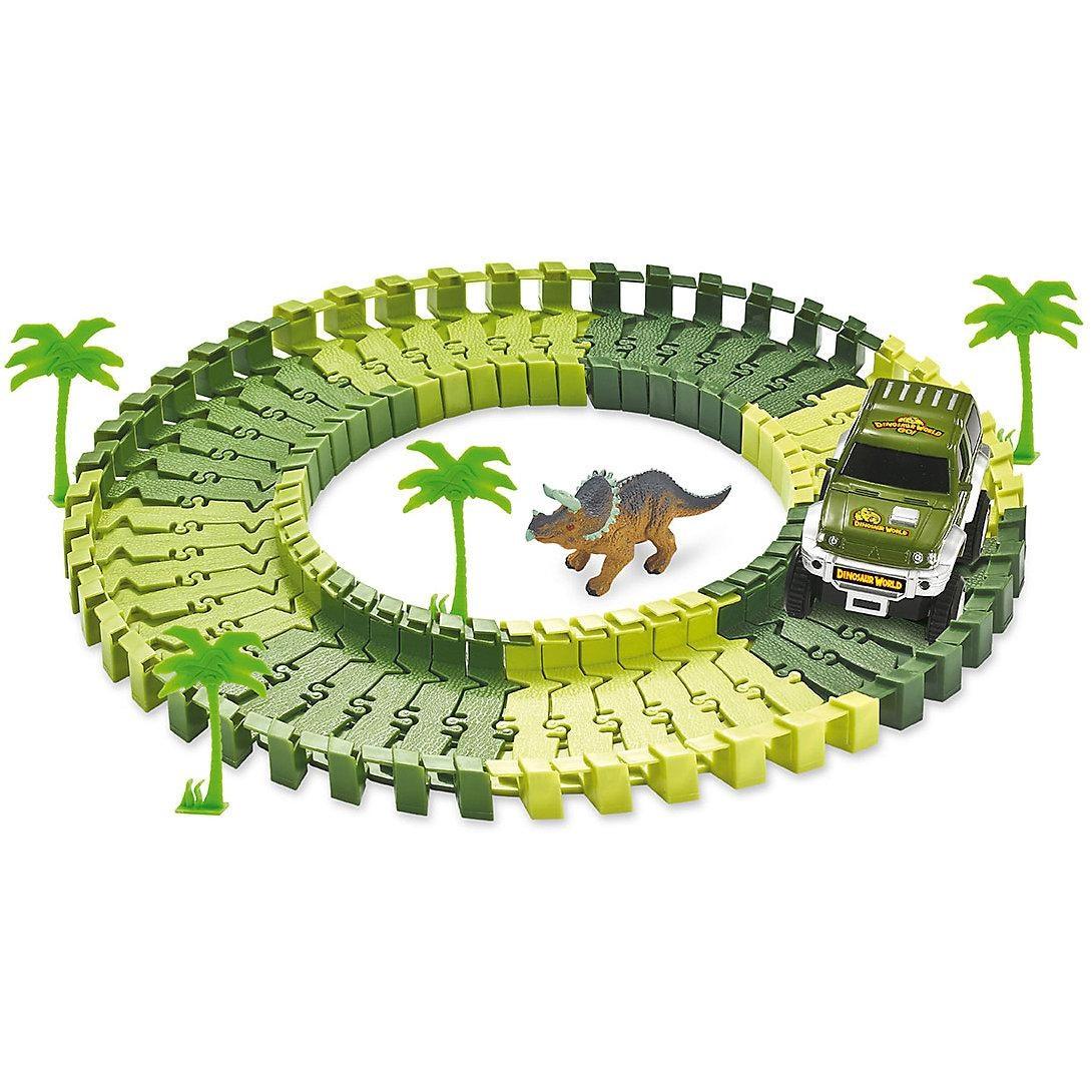 Amewi Magic Traxx Dino-Park mini mit Überrollfunktion 54-teilig