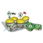 Dekoback Muffinset Fußball 48-tlg.