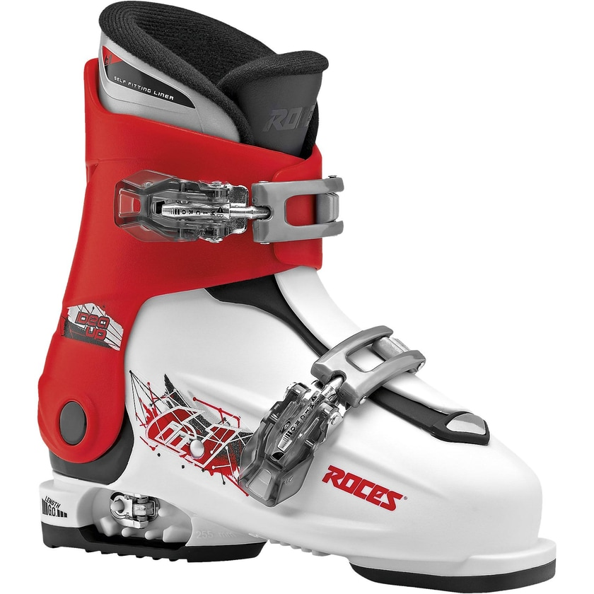 Roces Skischuhe Idea up Gr.30-35 größenverstellbar white-red-black