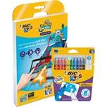 BIC Kids Drawybook Zauber-Filzstifte 12 Farben