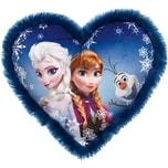 JOY TOY Frozen Herzkissen mit Plüschbord