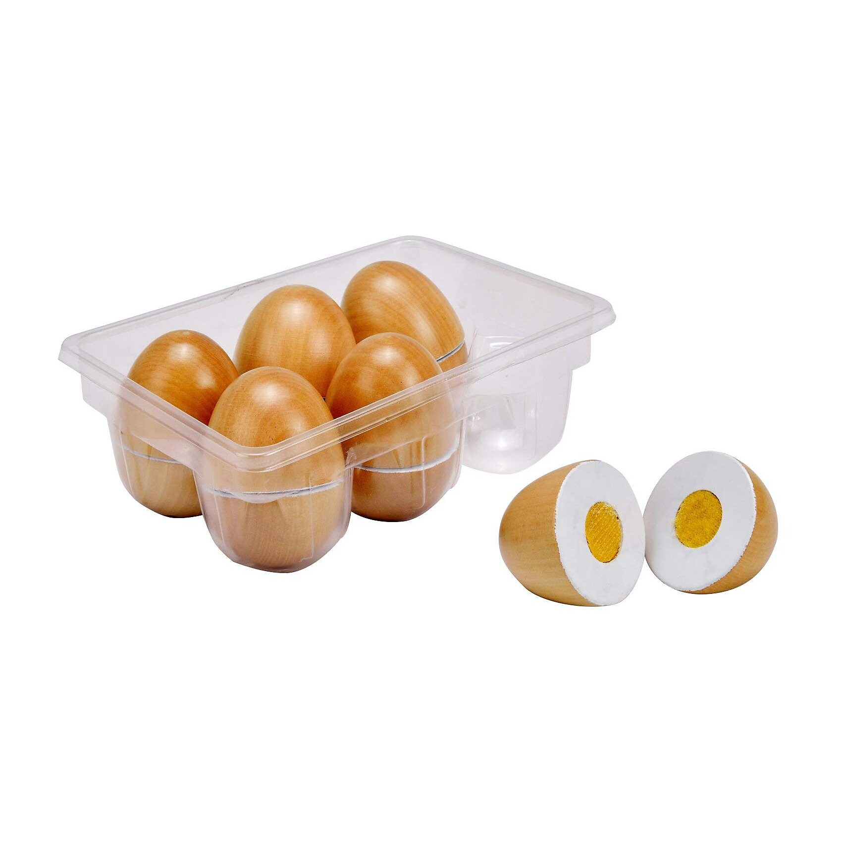 Idena Eierbox Holz 6 Eier schneidbar