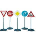 Klein Spielzeug Verkehrszeichen-Set 1 5-teilig Höhe ca. 75 cm