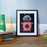 dot on dot on art space - roboter 30 x 40 cm