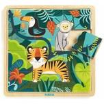 DJECO Rahmenpuzzle Jungle 15 Teile