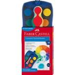 Faber-Castell CONNECTOR Deckfarbkasten blau 12 Farben inkl. Deckweiß