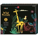 Avenir Craft Kit Scratch Wild Animals
