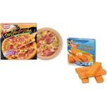 Chr. Tanner Spiellebensmittel Dr. Oetker Pizza und Iglo Fischstäbchen