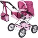 Bayer Kombi Puppenwagen Grande gepunktet Pink