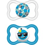 MAM Schnuller Air Latex Gr. 3 blau 2er Pack
