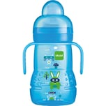 Mam Trinklernflasche Trainer PP 220 ml Silikonschnabel blau
