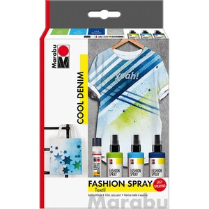 Marabu Fashion-Spray Cool Denim Textilsprühfarbe