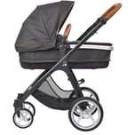 Gesslein Kombi Kinderwagen Smiloo Set Fun schwarzcognac phantomgrau