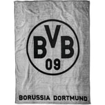 Borussia Dortmund Bvb-Fleecedecke Grau
