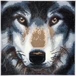 CRAFT Buddy Crystal Art Kit auf Holzrahmen-Leinwand - Wolf 30 x 30 cm