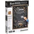 Clementoni Puzzle 1000 Teile Black Board Coffee