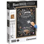 Clementoni Puzzle 1000 Teile Black Board Coffee
