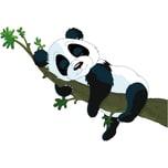 Wandsticker Pandabär 67 x 47 cm