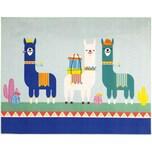 Kinderteppich Family Lama mehrfarbig 95 x 125 cm