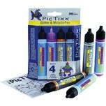 C. KREUL PicTixx Glitterpen Glitter Metallic 4 x 29 ml
