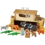 EverEarth Große Arche Noah mit 16 Holzfiguren