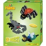 Hama Perlen 3239 Geschenkset 3D-Insekten 2.500 midi-Perlen und Zubehör