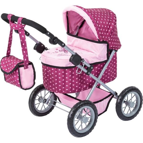 BAYER Puppenwagen Trendy rosa gepunktet