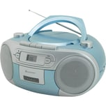 Soundmaster CD Player mit Radio und Kassettenspieler hellblau
