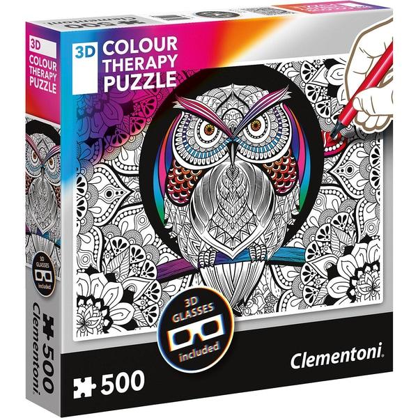 Clementoni Puzzle 500 Teile Colour Therapy Eule