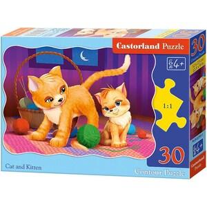Castorland Puzzle 30 Teile Katze mit Kätzchen