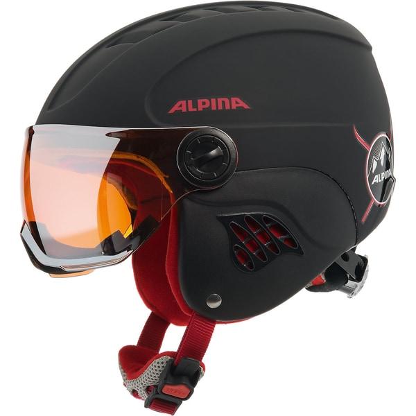 Alpina Skihelm Carat LE Visor HM black/red matt