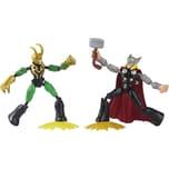 Hasbro Marvel Avengers Bend and Flex Thor gegen Loki Action-Figuren 15 cm große biegbare Figuren ent